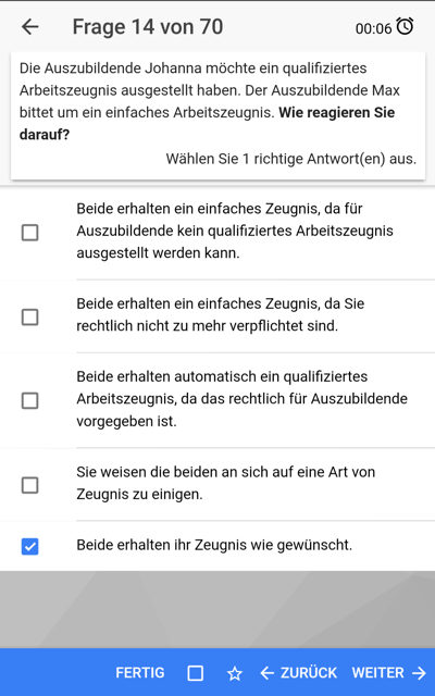 AEVO Held App Android Prüfungsmodul
